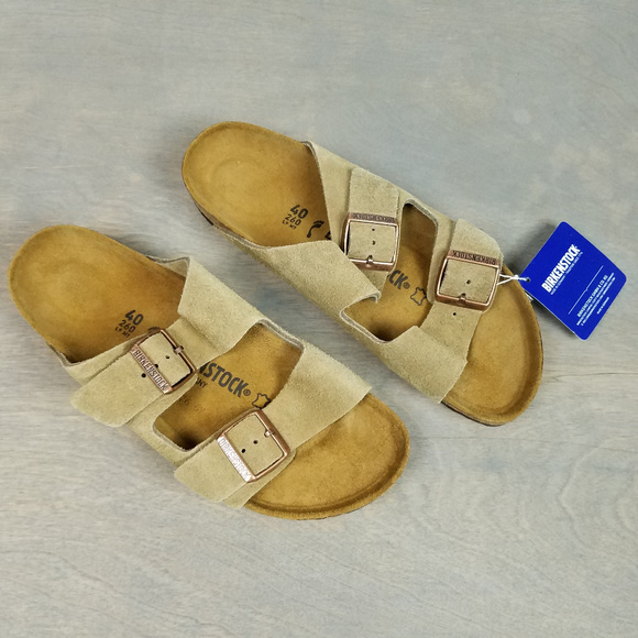 cd51f6122d19 Birkenstock Womens 9 Mens 7 40 Suede Taupe Sandals